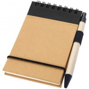 Afbeelding van 100st. Bedrukte Notitieboekje Gerecycled Met pen bedrukken notitieboekjes