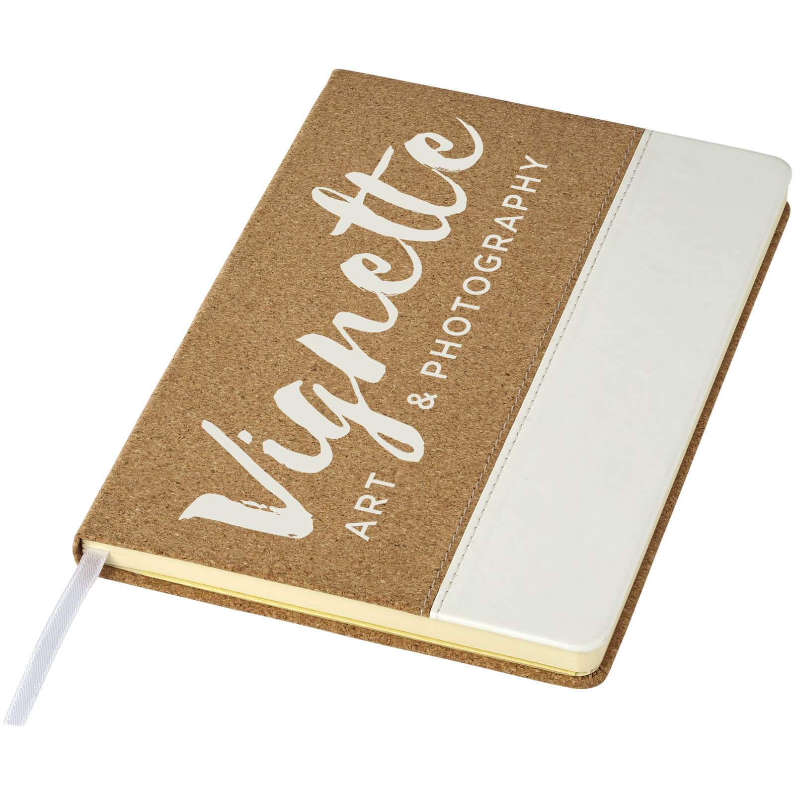Afbeelding van 100st. Bedrukte Notitieboek Kurk A5 bedrukken notitieboekjes