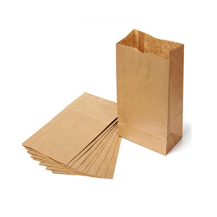 Afbeelding van 100st. Bedrukte Bruin zakje Zonder handvat 15 x 29 6 cm bedrukken papieren tassen