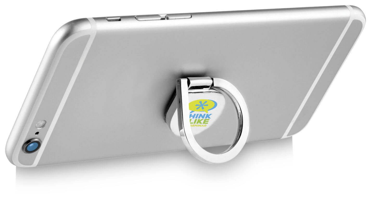 Afbeelding van 100 st. Bedrukte Telefoonring Met ring Aluminium bedrukken gadgets