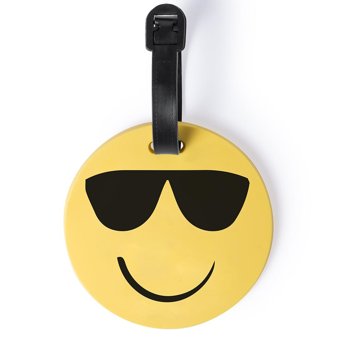 Afbeelding van 100st. Bedrukte Bagagelabel smiley Emoji bedrukken tassen