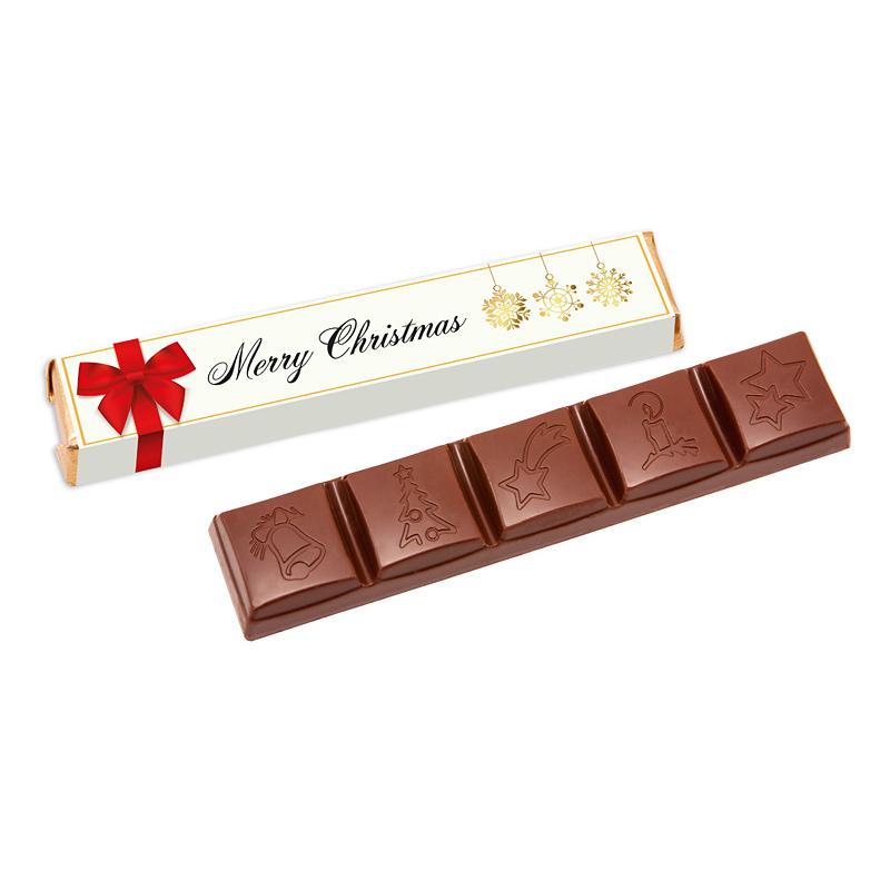 Afbeelding van 100 st. Chocolade bedrukken Chocoreep Drie smaken Full colour wikkel