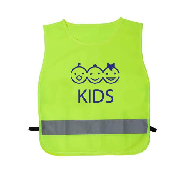 Afbeelding van 100 st. Veiligheidshesjes bedrukken Kinder veiligheidsvest Budget Polyester