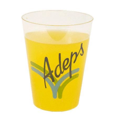 Afbeelding van 10000st. Bedrukte Kunststof limonadeglas 200cc buigzaam bedrukken drinkbekers