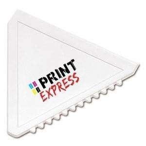 Afbeelding van 100 st. Promo IJskrabber snel driehoek in 3 dagen bedrukken ijskrabbers