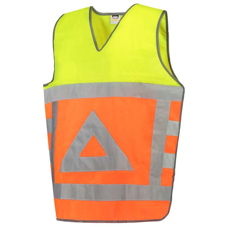 Afbeelding van 10 st. Veiligheidsvest Bedrukken Verkeersregelaar Reflectie EN471 Tricorp Workwear Prijs incl. bedrukking