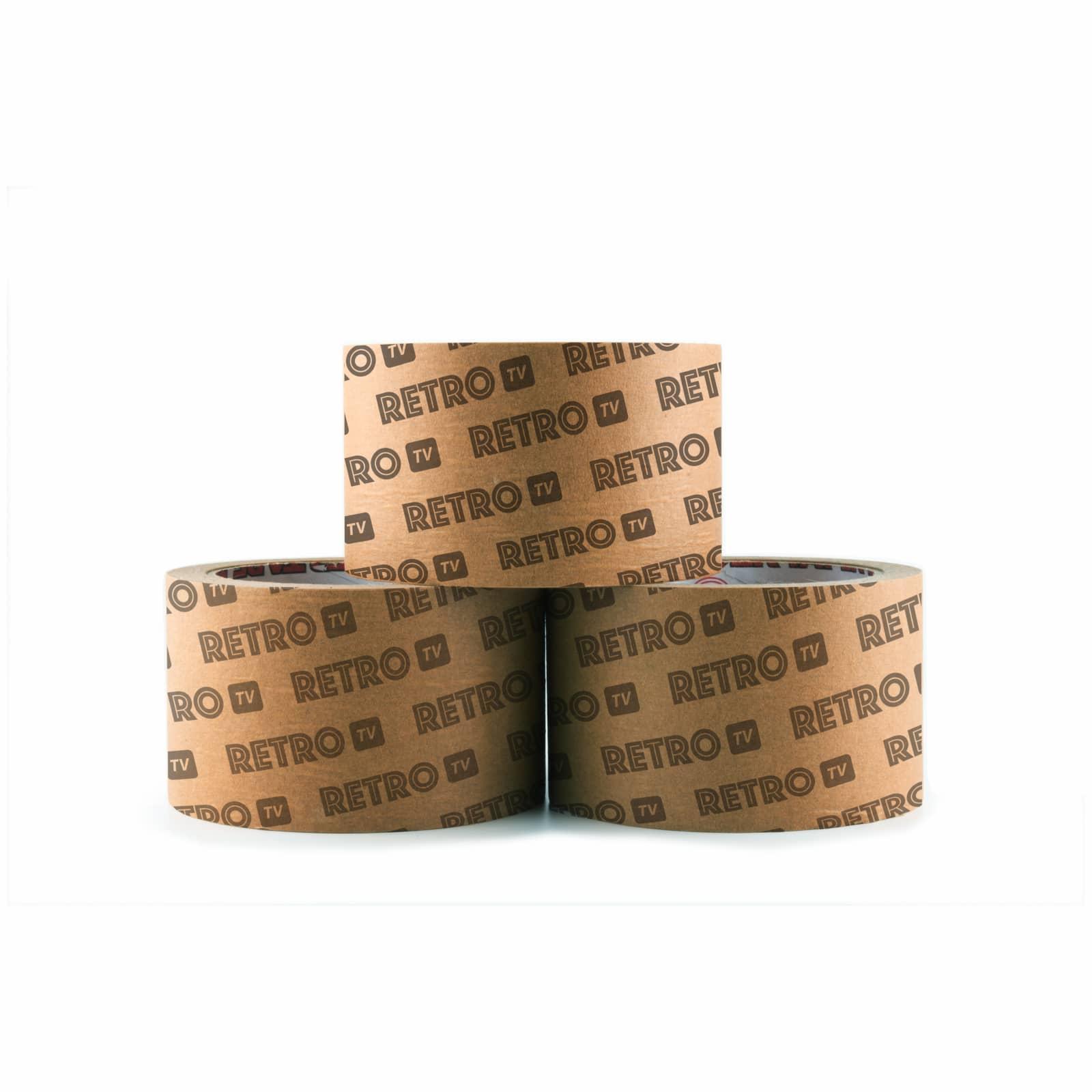 Afbeelding van 540 st. Papieren Tape bedrukken Stevig 4,8cm x 50mtr in 20 dagen