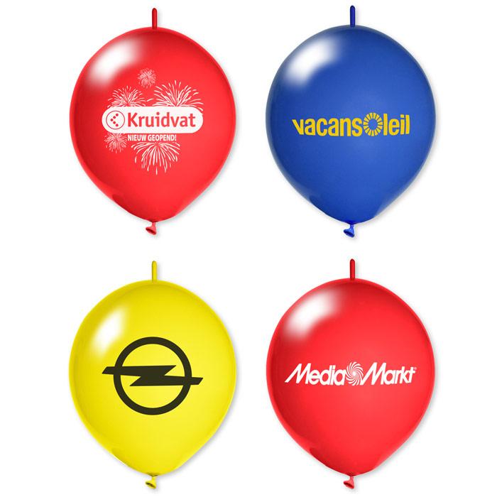 Afbeelding van 1000 st. Linkballonnen met bedrukking In 11 werkdagen