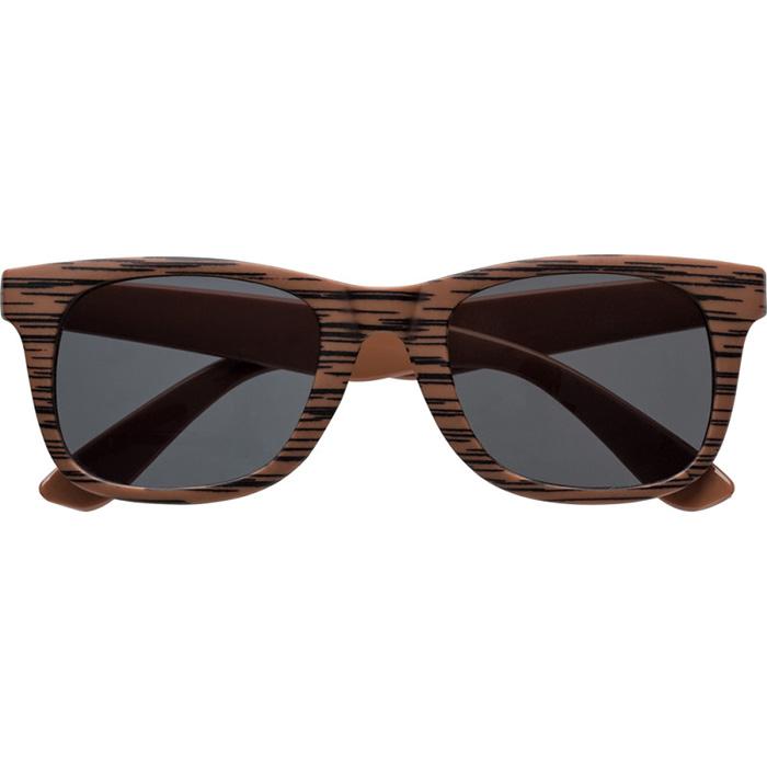 Afbeelding van 100 st. Bedrukte Zonnebril Hout look bedrukken zonnebrillen bedrukken In 7 werkdagen