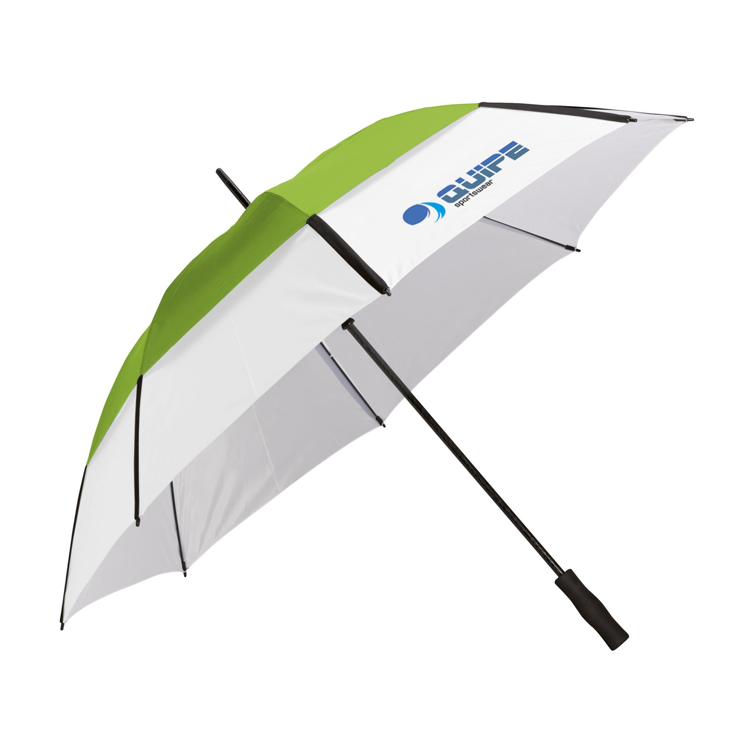 Afbeelding van 25 st. Bedrukte GolfClass paraplu Stormfunctie Ø 130 cm bedrukken bedrukken In 9 werkdagen