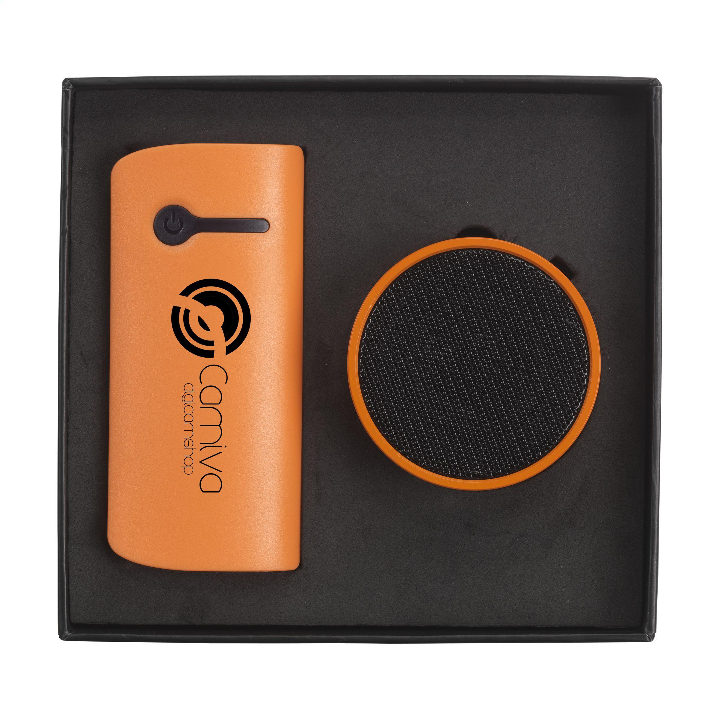 Afbeelding van 10st. Bedrukte powerbank 4.000 mAh Geschenkset USB stick bedrukken relatiegeschenk
