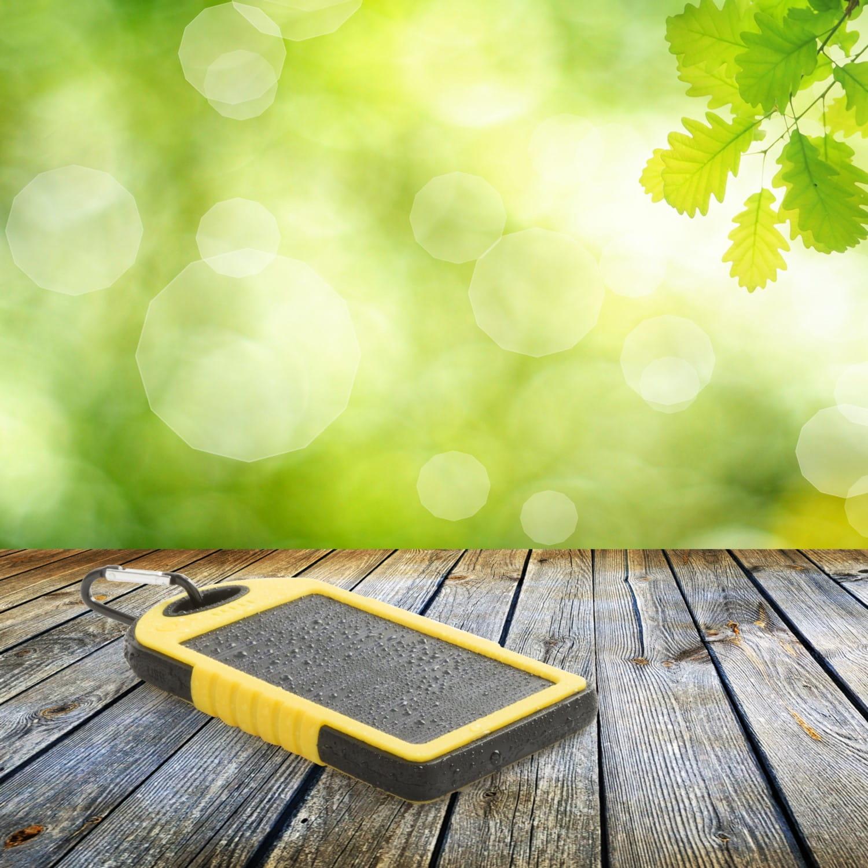 Afbeelding van 10st. Bedrukte powerbank 4.000 mAh Siliconen Zonne energie bedrukken relatiegeschenk