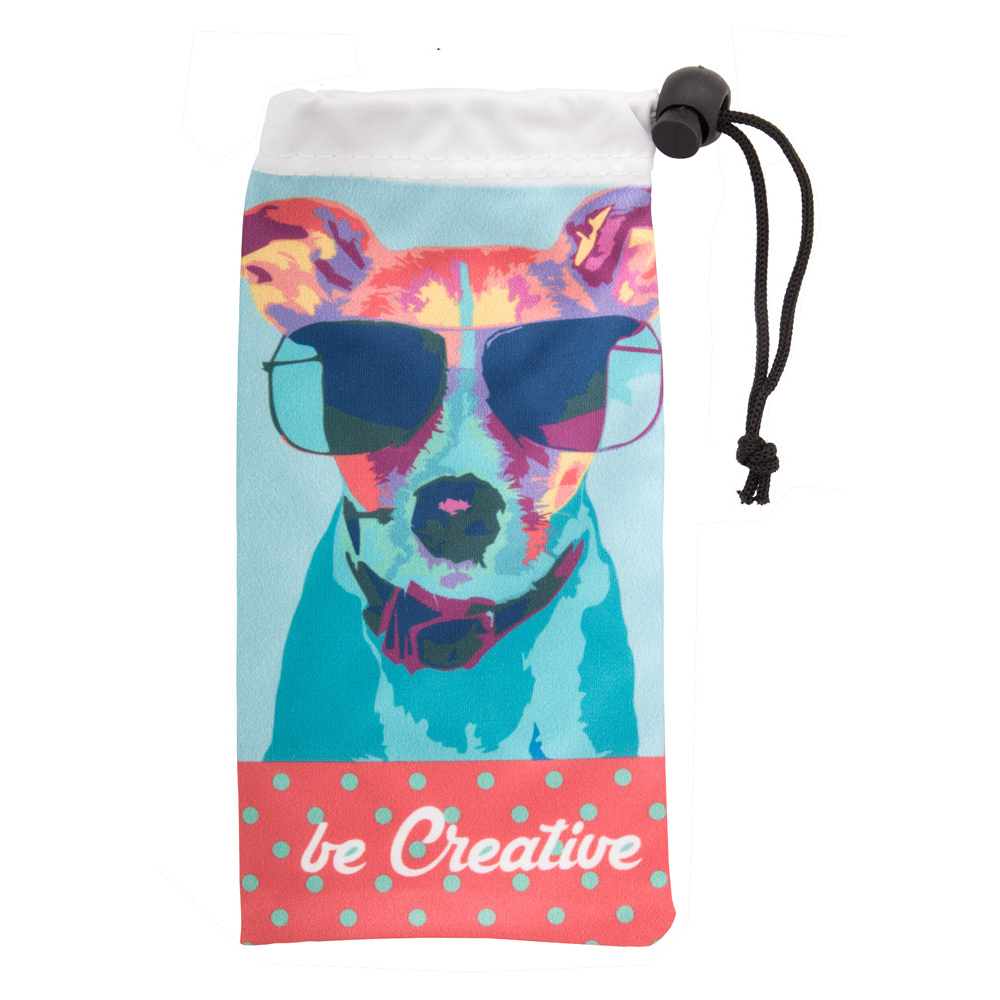 Afbeelding van 100 st. Bedrukte Brillenhoesje Full colour bedrukken zonnebrillen bedrukken In 10 werkdagen