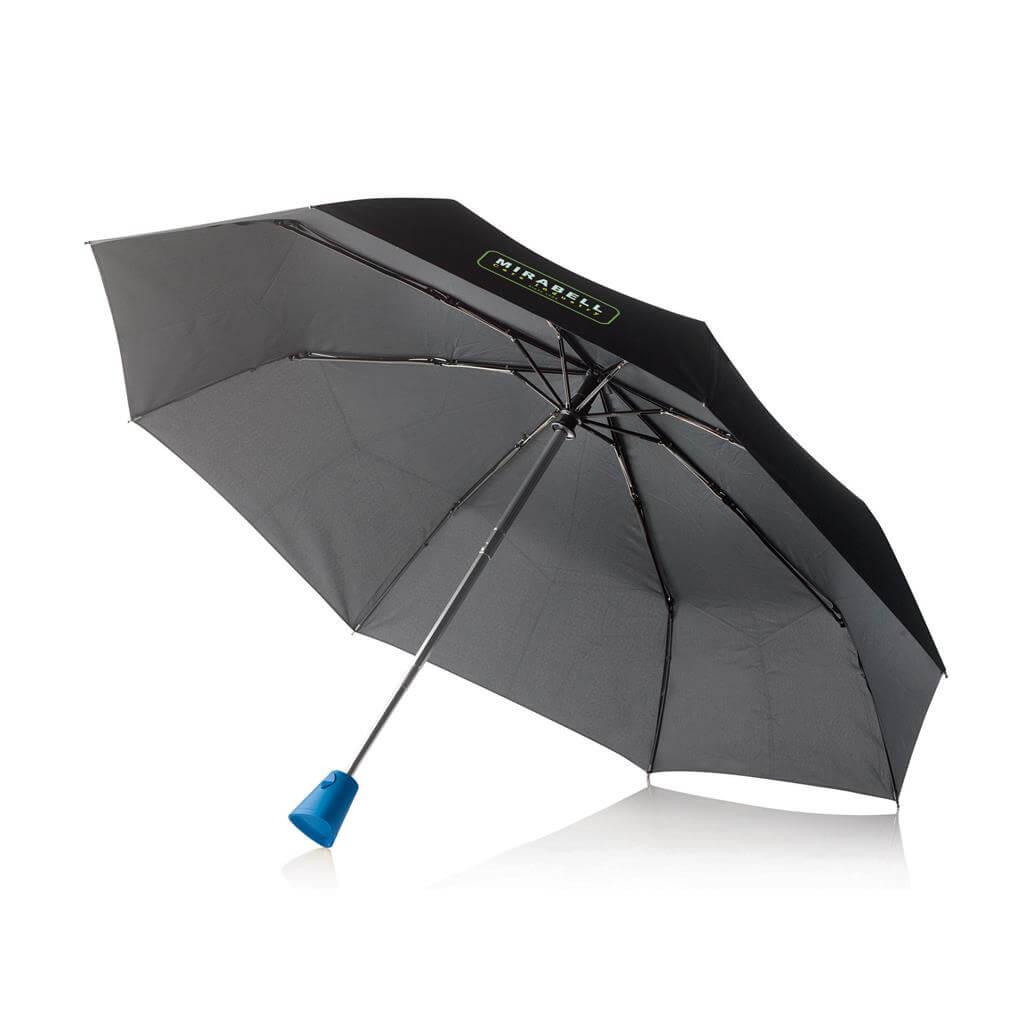 Afbeelding van 25 st. 2 In 1 Auto open/sluit paraplu met logo bedrukken 6 werkdagen