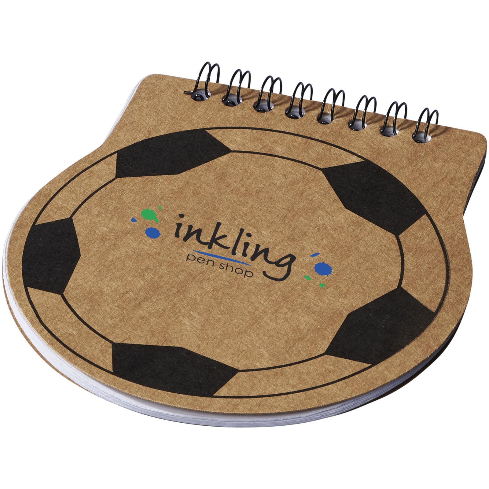 Afbeelding van 100st. Bedrukte Notitieboek Score Voetbal Blank papier bedrukken notitieboekjes