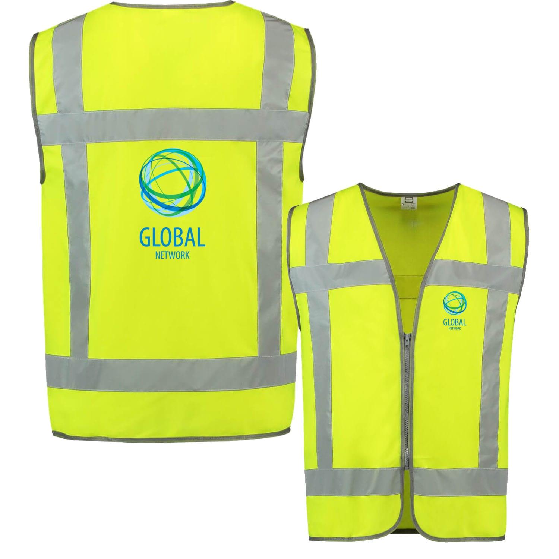Afbeelding van 10 st. Veiligheidsvest Bedrukt Rits Reflectie EN471 Tricorp Workwear Prijs incl. bedrukking