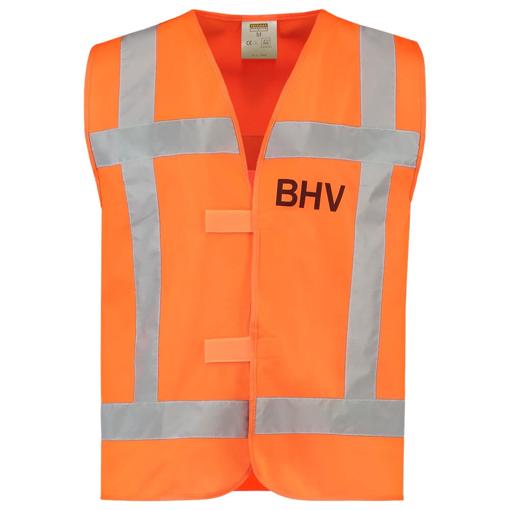 Afbeelding van 10 st. Veiligheidsvesten bedrukken Promo Tekst BHV Reflectie EN471 Tricorp Workwear Prijs incl. bedrukking