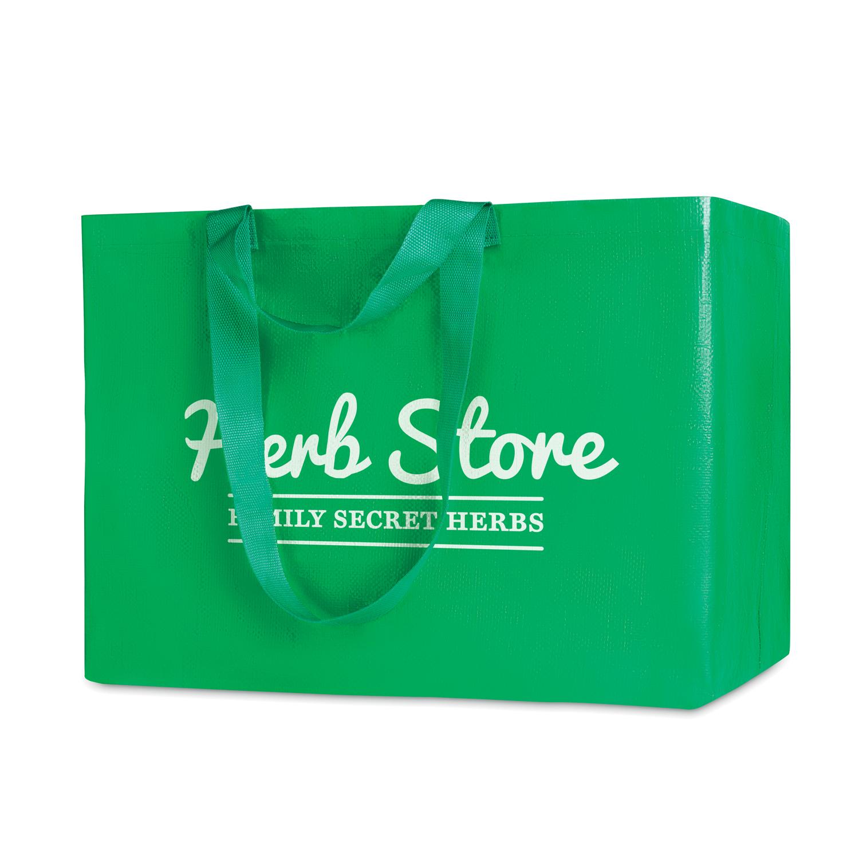 Afbeelding van 1000 st. Bedrukte Shopper tas XXL 90 x 35 38 cm Zeevracht bedrukken tassen bedrukken In 50 werkdagen