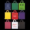 Gekleurde katoenen tas met korte hengsels | Tot 4 kleuren bedrukking | Standaard kwaliteit