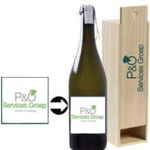 Prosseco Spago met eigen etiket & kist