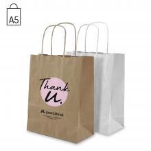 Papieren tas | A5 | Bruin of wit |  Beste prijs