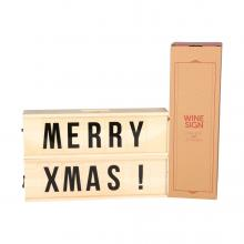 Rackpack Winesign | Wijnkist met letters
