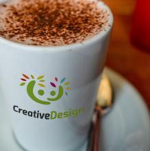 Koffiemok met foto   350 ml   Full colour   113FCConisch