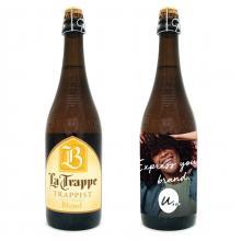 La Trappe blond   XL bierfles met eigen etiket   70 cl   118002
