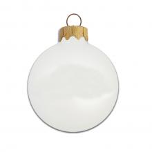 Gekleurde kerstbal | Glossy | 66 mm | 121001 Wit