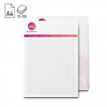 Schrijfblok A4 | Eigen ontwerp all-over | FSC | 25 - 100 vel