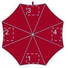 Gekleurde paraplu | Ø 104 cm | Handmatig | Full colour | Maxs035