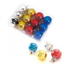 Set van 12 mini kerstballen | Bedrukking op doosje