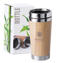 Reisbeker   Bamboe   Veiligheidssluiting   500 ml