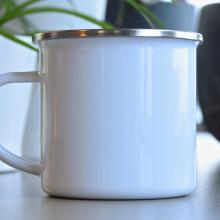 Emaille mok met foto | 350 ml | Per stuk personaliseerbaar | 113012