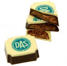 Schokolade mit Vollfarb-Logo