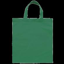Gekleurde katoenen tas met korte hengsels | Tot 4 kleuren bedrukking | Standaard kwaliteit | 72201005 Donkergroen