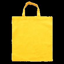 Gekleurde katoenen tas met korte hengsels | Tot 4 kleuren bedrukking | Standaard kwaliteit | 72201005 Geel