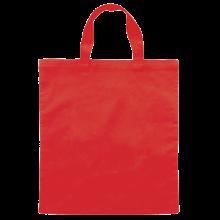 Gekleurde katoenen tas met korte hengsels | Tot 4 kleuren bedrukking | Standaard kwaliteit | 72201005 Rood