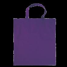 Gekleurde katoenen tas met korte hengsels | Tot 4 kleuren bedrukking | Standaard kwaliteit | 72201005 Paars