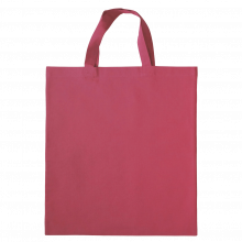 Gekleurde katoenen tas met korte hengsels | Tot 4 kleuren bedrukking | Standaard kwaliteit | 72201005 Roze