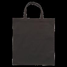Gekleurde katoenen tas met korte hengsels | Tot 4 kleuren bedrukking | Standaard kwaliteit | 72201005 Zwart