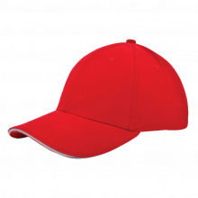 Cap | Zware kwaliteit | Borduring | 201926B Rood / Wit