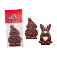 Chocolade Kerstman of rendier | Full colour kaartje