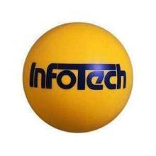 Kleiner Kunststoff-Fußball mit Logo