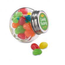 Bocal en verre | Bonbons multicolores