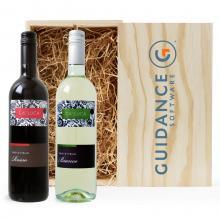 Rood & Wit | Merlot/Sangiovese & Chardonnay/Trebbiano| Met kist | Italië