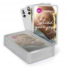 Speelkaarten   Kaarten met logo   In plastic doosje