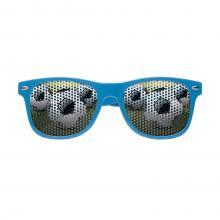Sonnenbrille mit bedruckten Gläsern