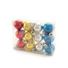 Set van 12 mini kerstballen   Bedrukking op doosje   153360