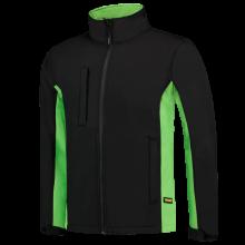 Soft Shell Jack | Bi-Color | Tricorp Workwear | 97TJ2000 Zwart / Lime